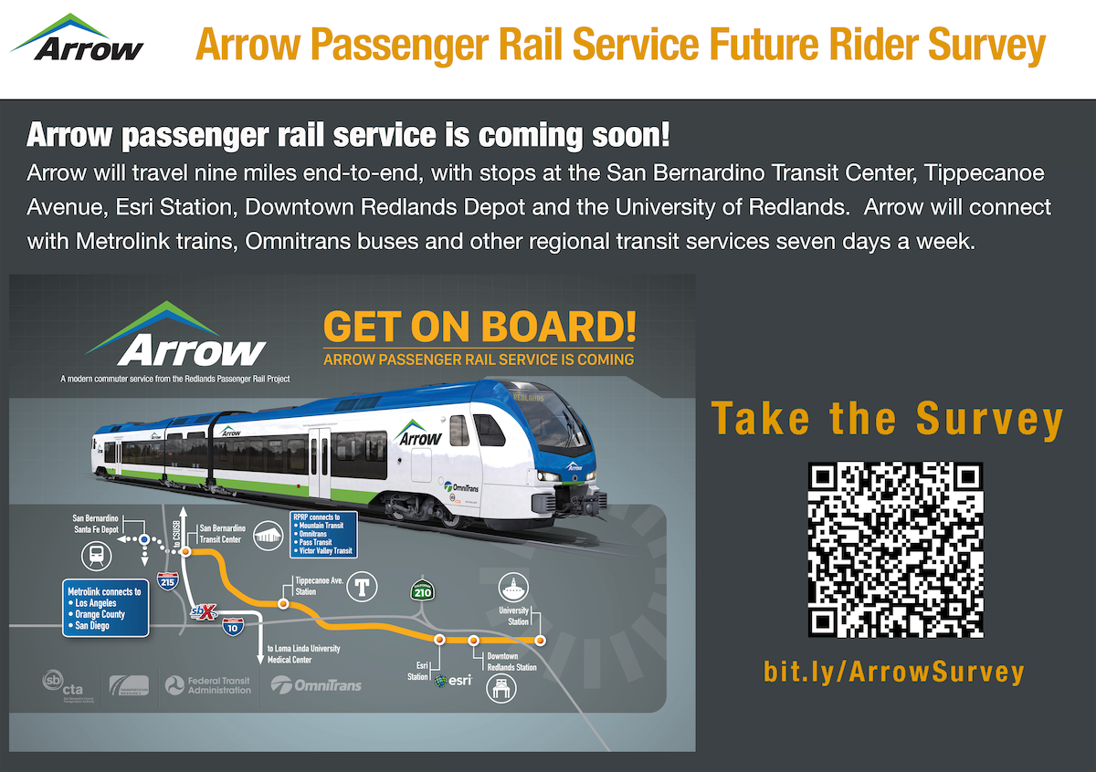 Arrow Passenger Rail Service Future Rider Survey