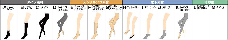 フル丈パンツで足の甲が見える靴に合わせるレッグアイテム