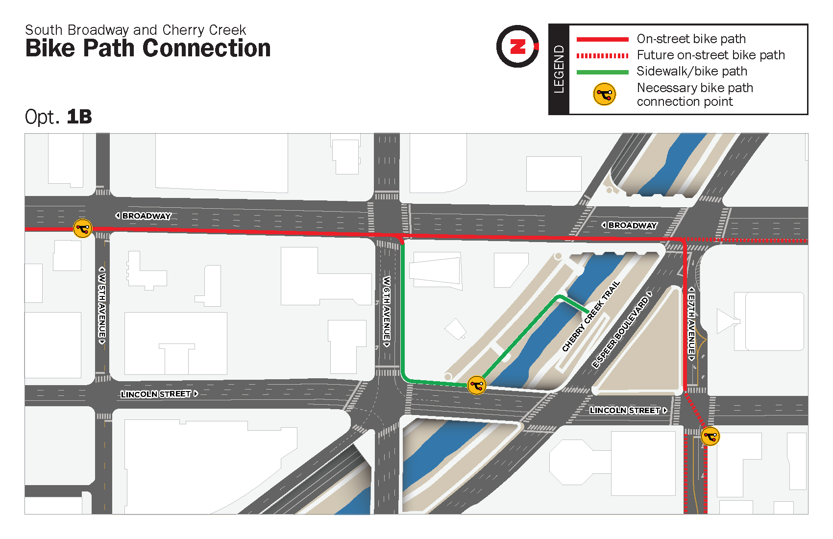 Option 1B: 6th Ave. Connection