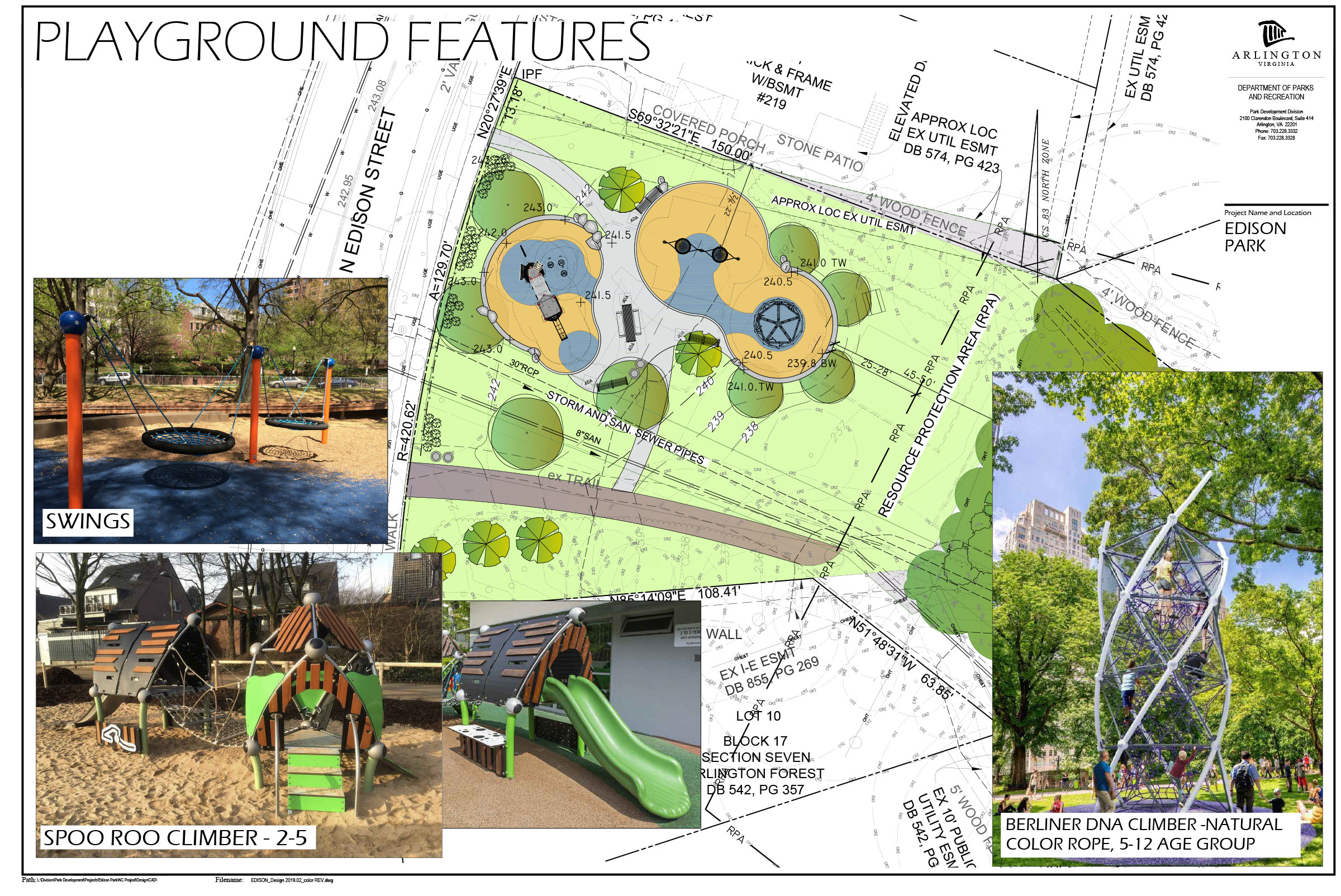 Here's an image of the play equipment in the new layout.