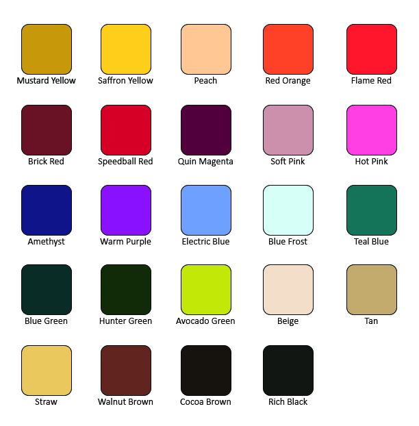 """<span style=""""text-decoration: underline;""""><strong>NEW COLORS FOR CONSIDERATION</strong></span><br>What 3-5 colors in the chart below are ones you'd be most excited about Speedball adding to its underglaze offering? <br><br>You will be able to select from a color listing in the following question, so it might be helpful to make note of your preferences prior to advancing in the survey."""