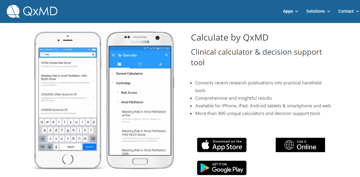 """<p><strong><a href=""""https://qxmd.com/calculate-by-qxmd"""" rel=""""nofollow"""" target=""""_blank"""">Calculate by QxMD (Clinical calculator &amp; decision support tool)</a></strong></p>"""