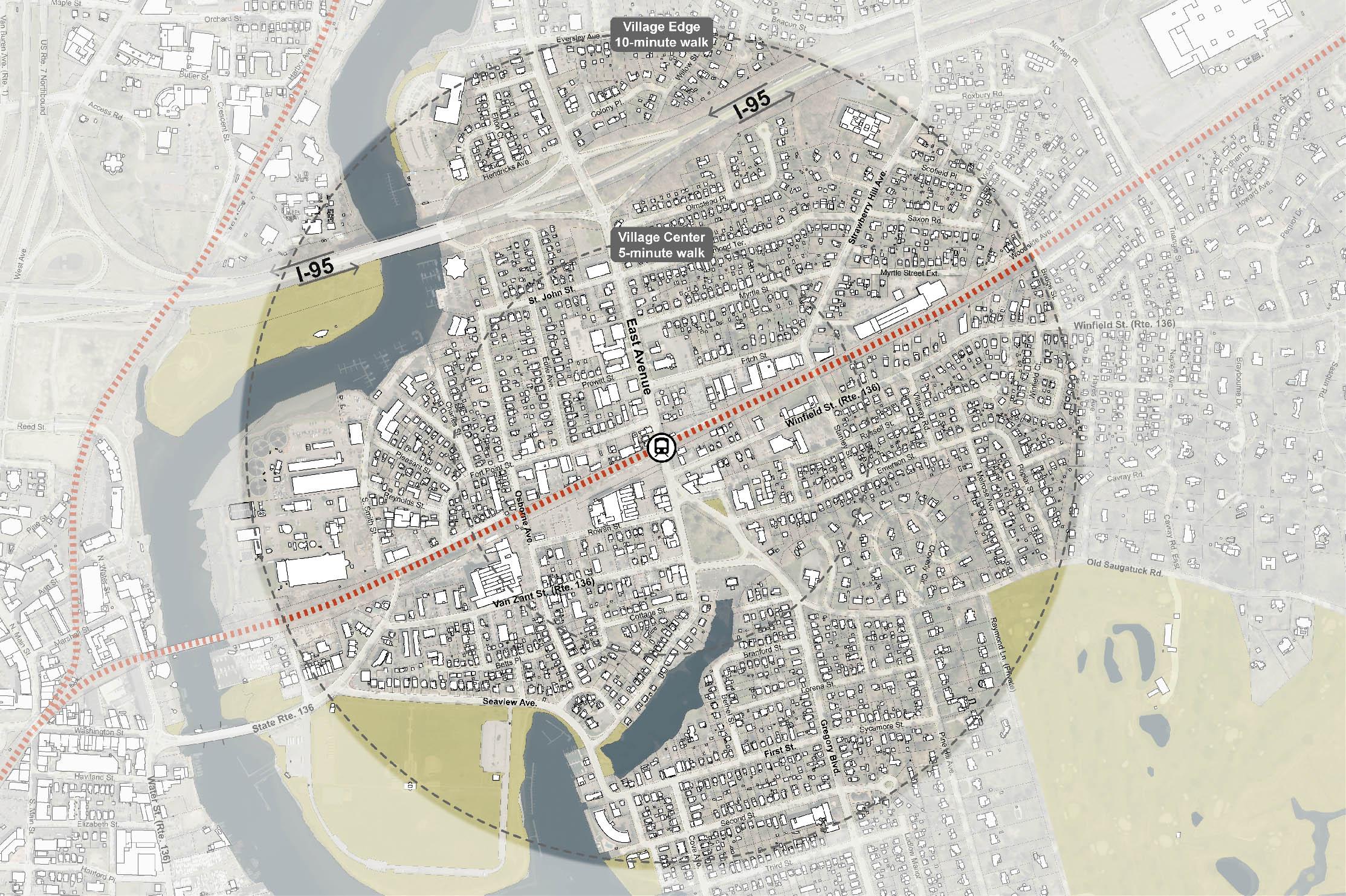 East Norwalk Transit Oriented Development (TOD) Plan - Study Area