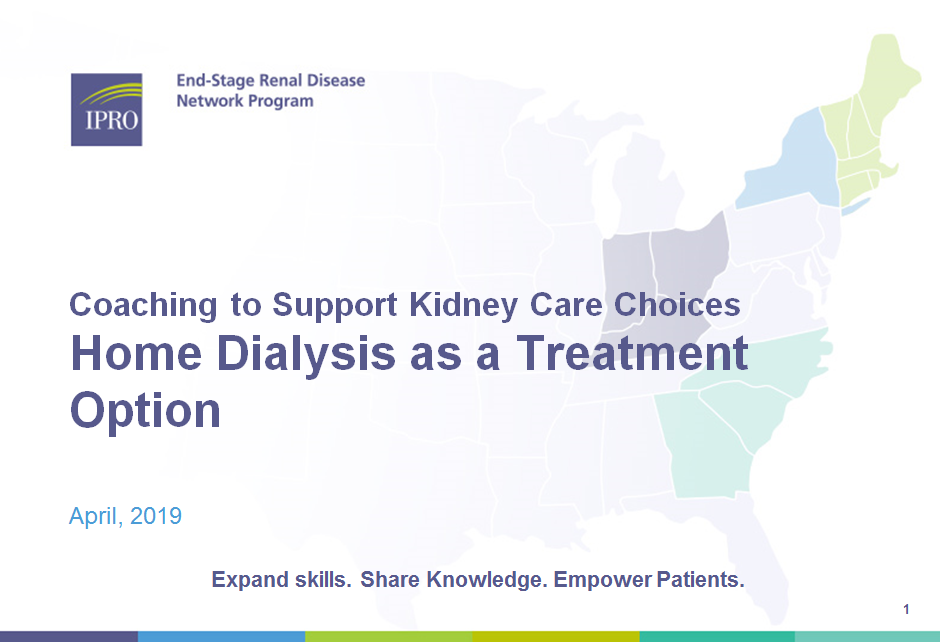 Professional Module Series:Home Dialysis as a Treatment OptionModule