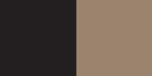 B. Black and Brown