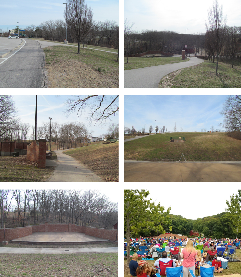 Views of Existing Amphitheater Area