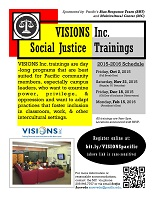 POSTER of VISIONS Inc. Social Justice Training