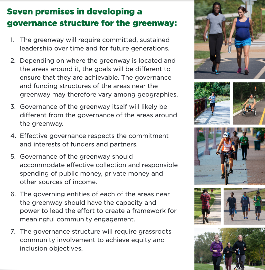 """<div style=""""text-align: center;""""><span style=""""font-size: 24pt;""""><strong>Governance for the Greenway</strong></span></div>"""