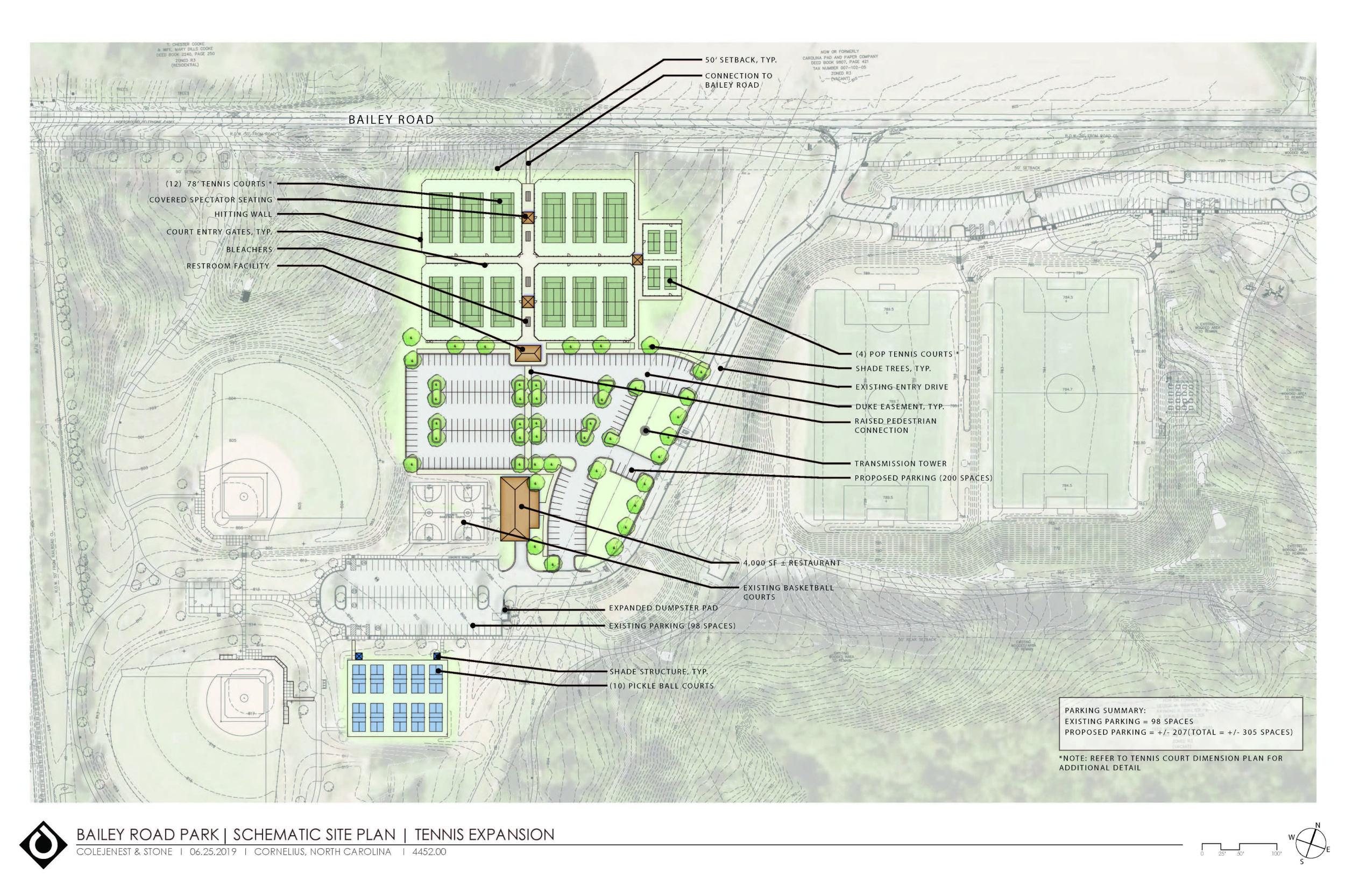 Proposed Bailey Road Park Master Plan