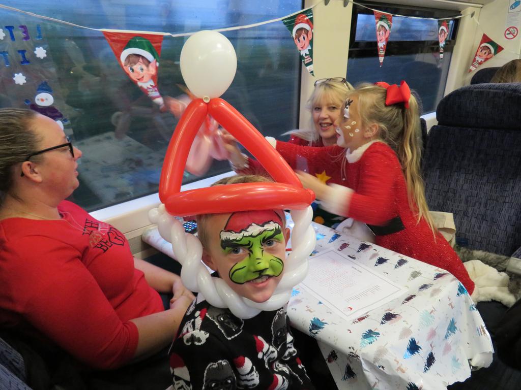 g) So much fun on the Santa Train!