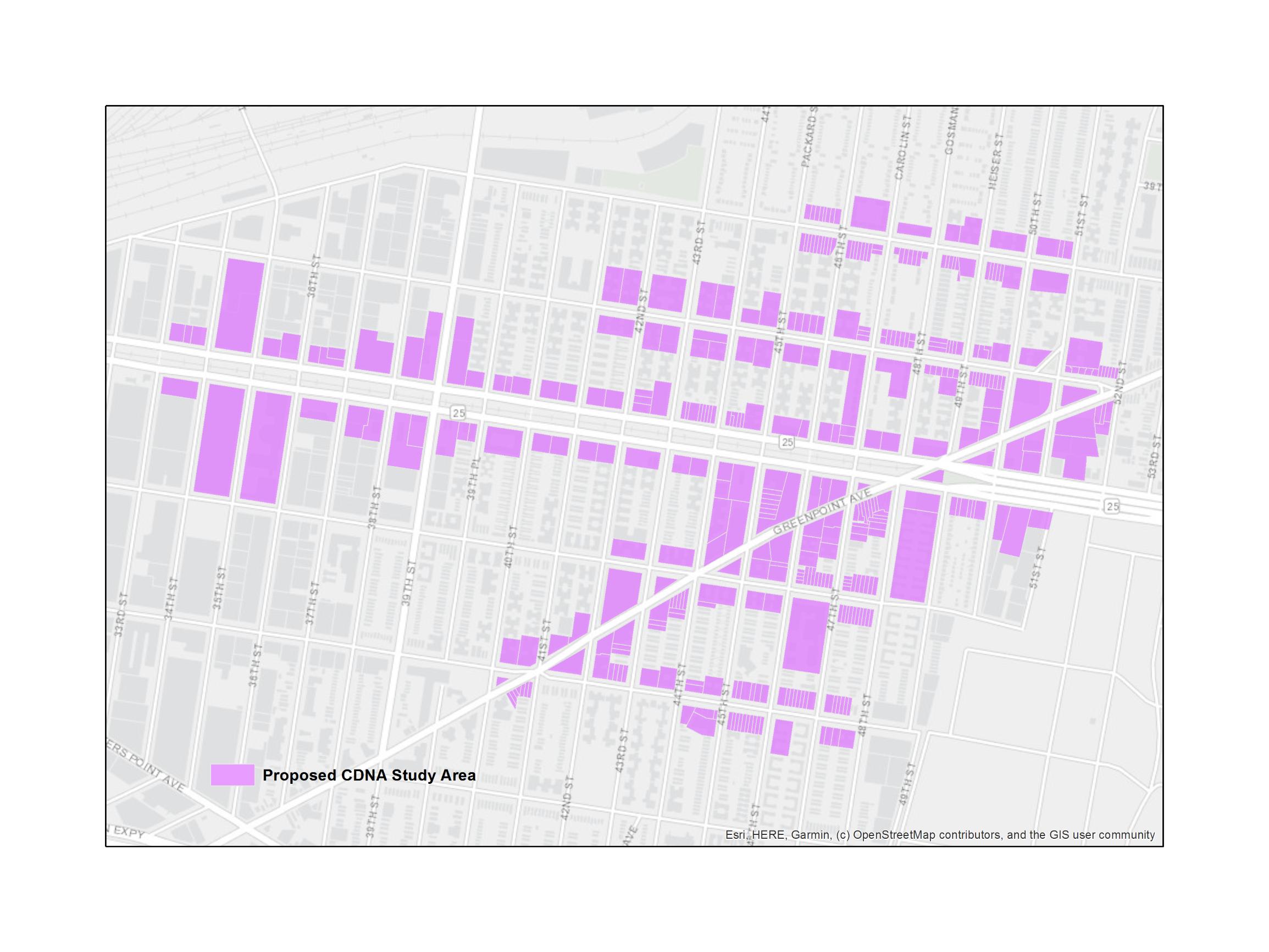 The CDNA study comprises of properties along the Sunnyside business corridor.