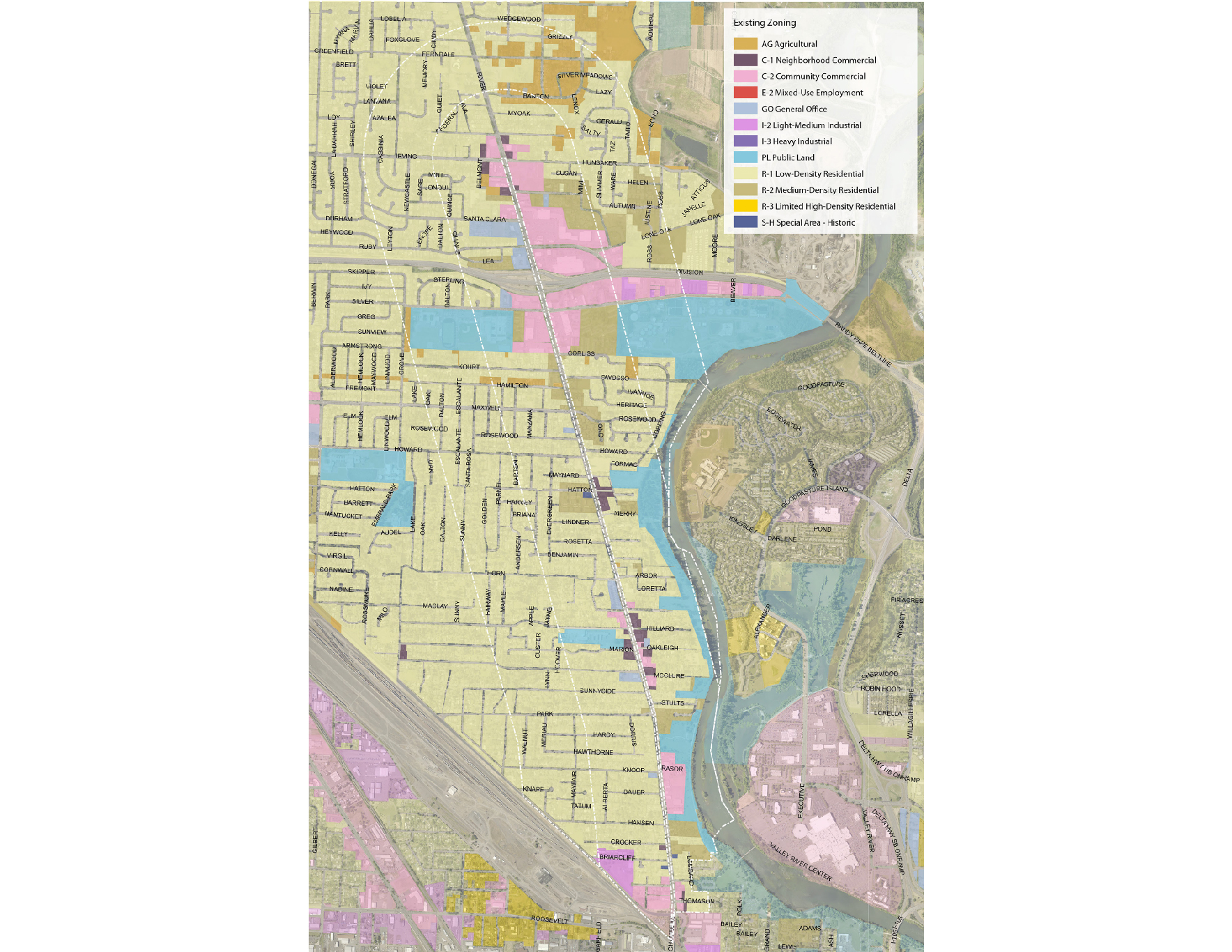 "<span style=""color: #36545f;""><strong>Current Zoning - Zoning Map</strong></span>"