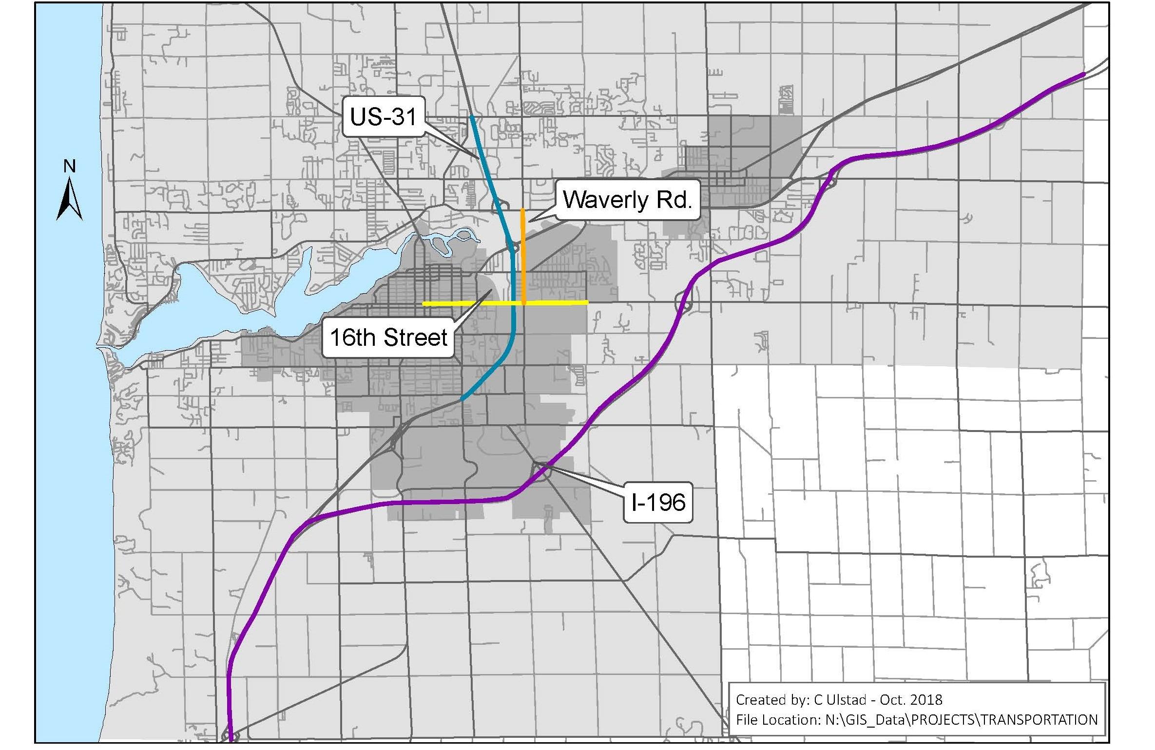 Áreas de preocupación: para los cuatro segmentos de carreteras que se enumeran a continuación, por favor deje sus comentarios si tiene alguna inquietud con respecto al tiempo de viaje, la seguridad, la calidad del pavimento, etc.