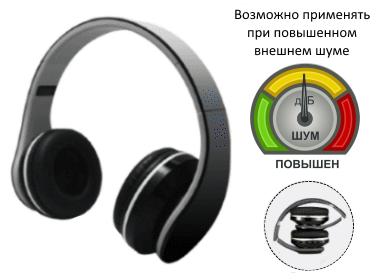 Встроенные в наушники на два уха