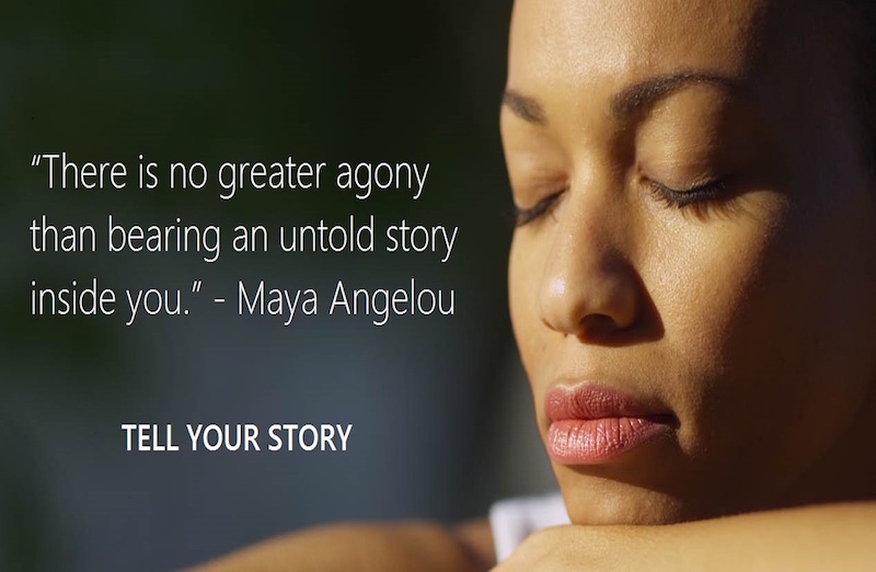 bearing an untold story inside you maya angelou quote