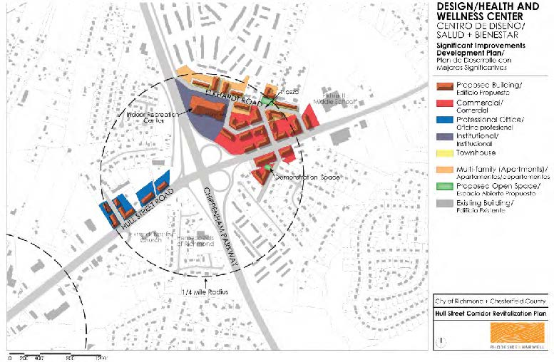 """<strong>Vision for Hull/Chippenham Activity Center from the Hull Street Revitalization Plan:</strong> <br>""""The Design/Health &amp; Wellness Center"""" – """"The long-term vision for the Design/Health &amp; Wellness Center emphasizes the potential for focusing on both health and wellness land uses in this area."""""""