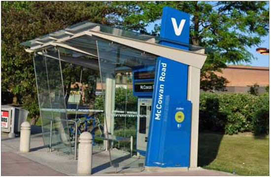 Safe accessibility to bus stops