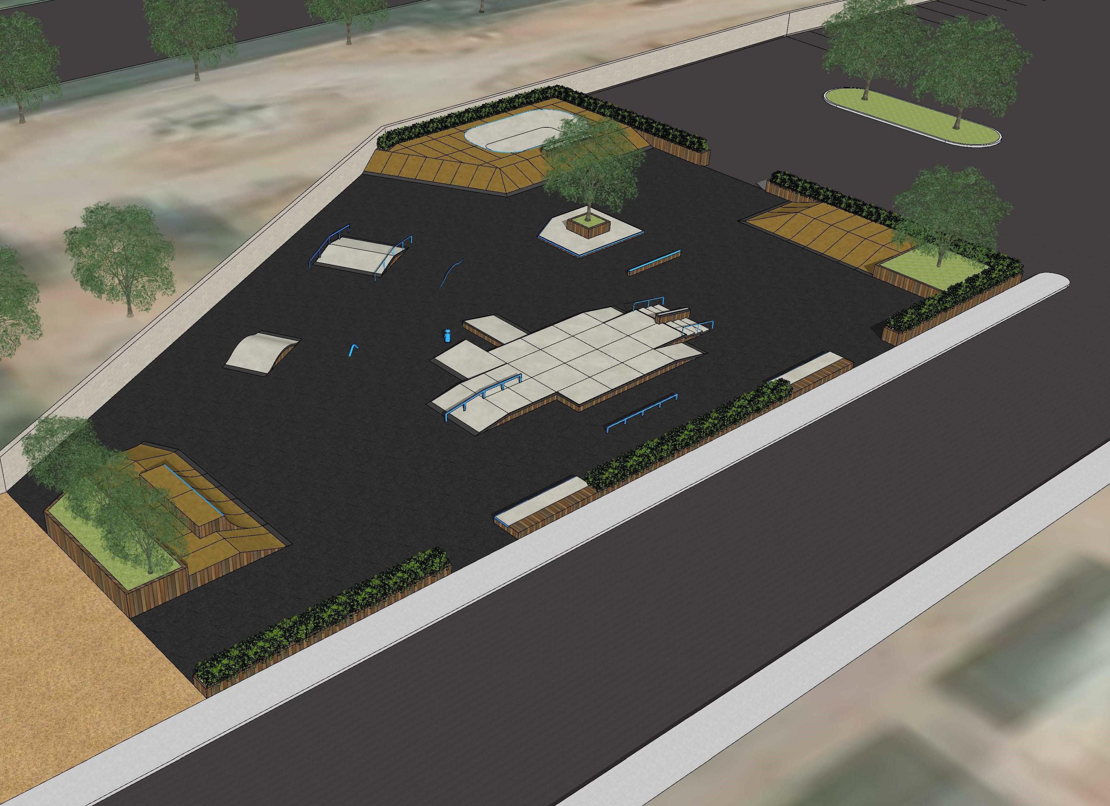Option B: Wood/Concrete w/SkateLite
