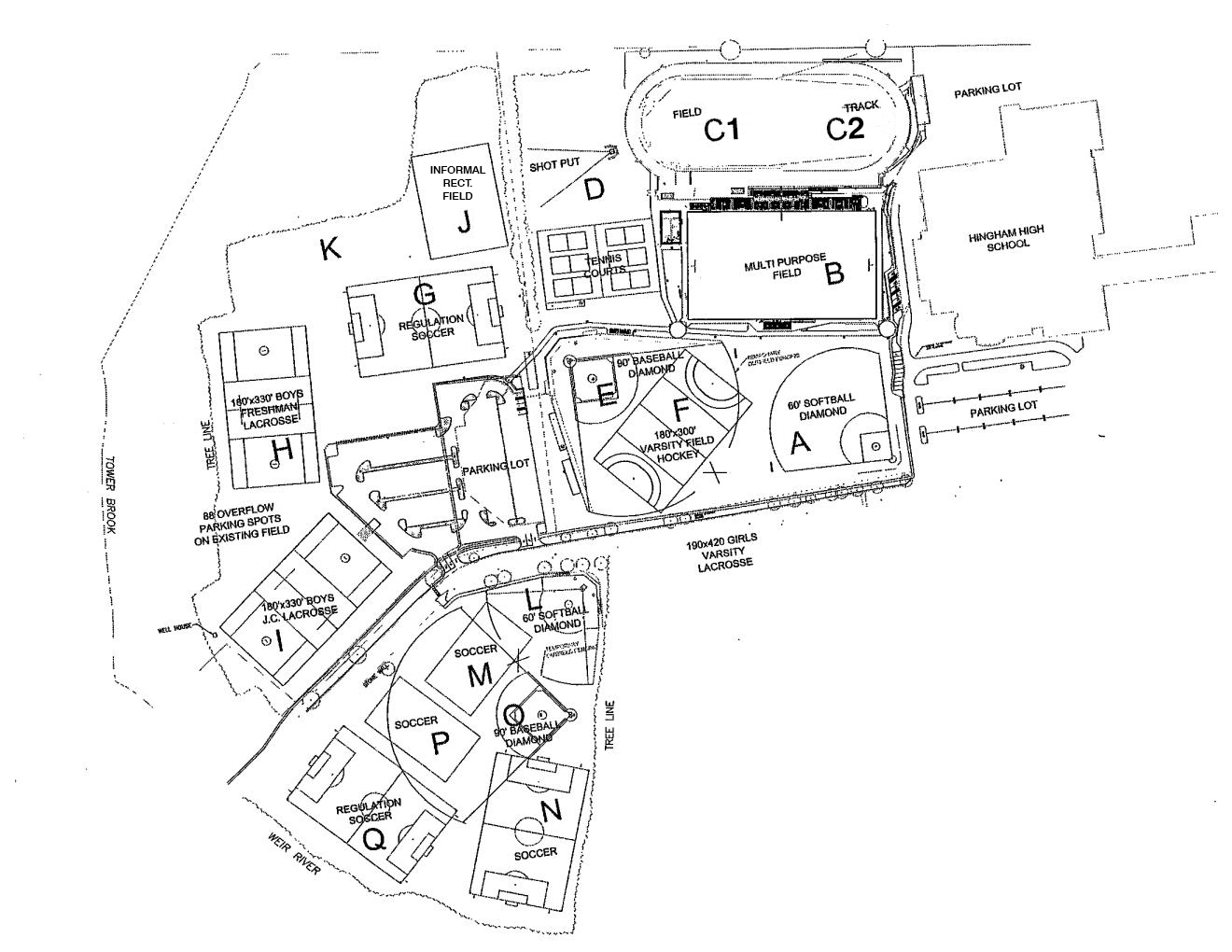 <strong>Hingham High School Field Map</strong>