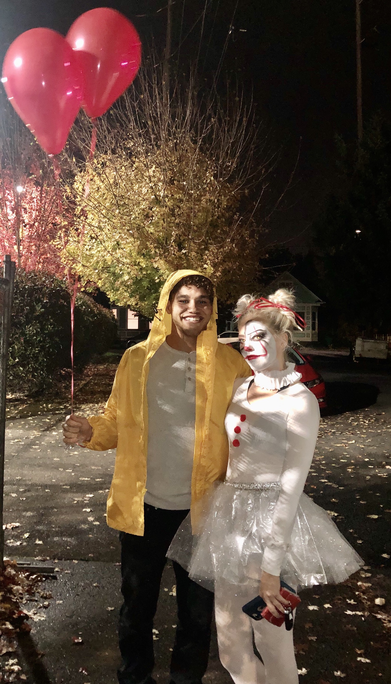 """1. """"Pennywise (It) & Georgie"""" by Kacey Hovden and her partner Zack (law student)"""