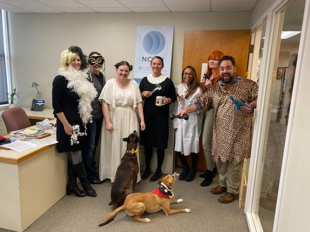 "18. ""NCVLI Staff Get Spooky"" by NCVLI (Meg Garvin, Amy Liu, Suibhan McDonald, Ellen Dully, Desiree Staefller-Marchbanks, Annie Smith, Joshua Medina (doggos: Charlie and Fenway)"