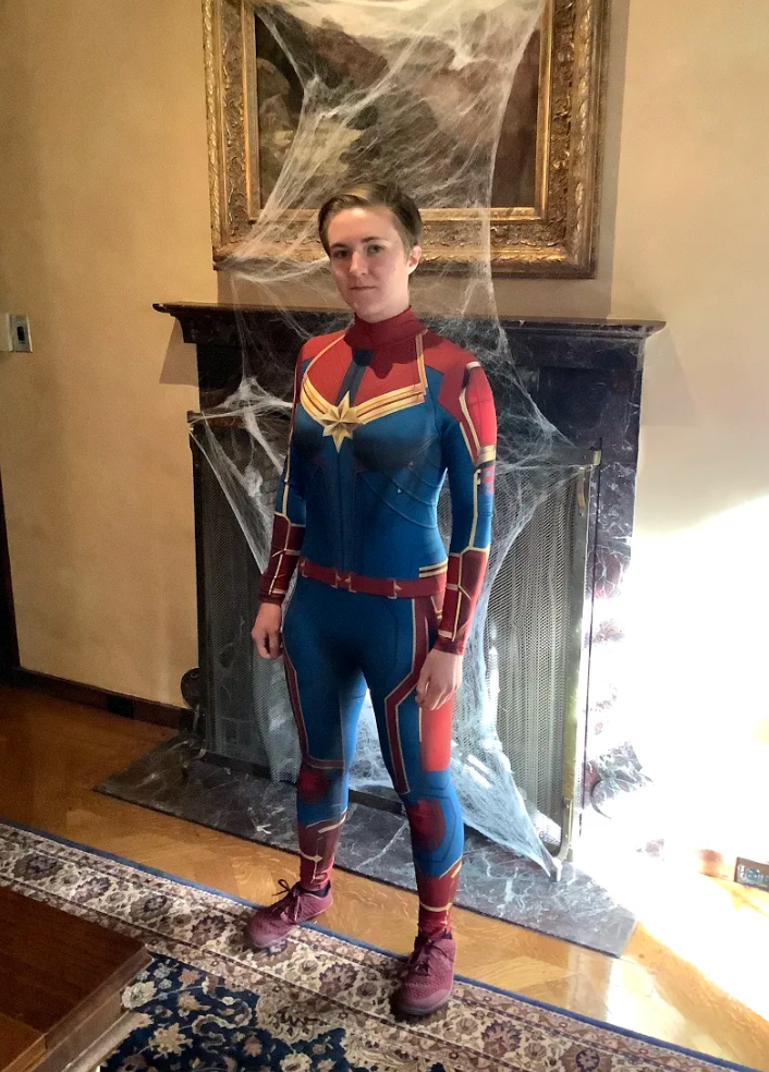 """16. """"Captain Marvel"""" by Hannah Posey-Scholl (CAS Student)"""