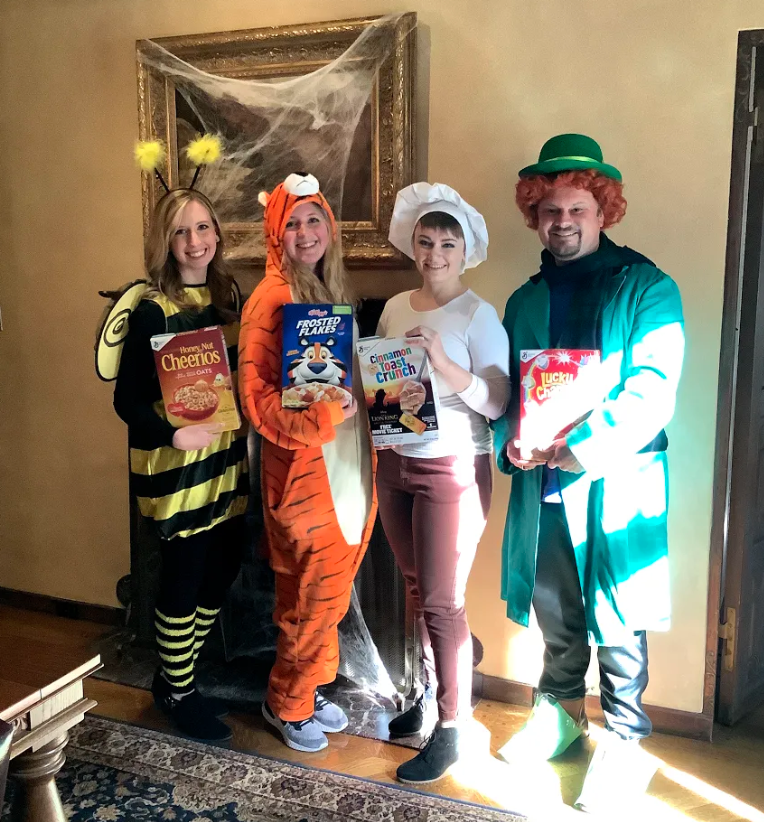 """7. """"Cereal Giving"""" by Annual Giving (Julie Newsome, Lexi Kelley, Shelby Danzer, Stephen LeBoutillier)"""