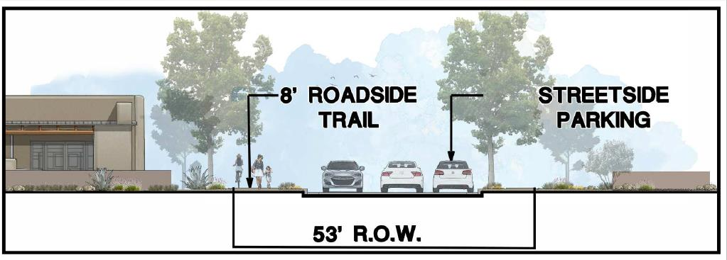 View of Proposed Roadside Trail. Relates to next question.