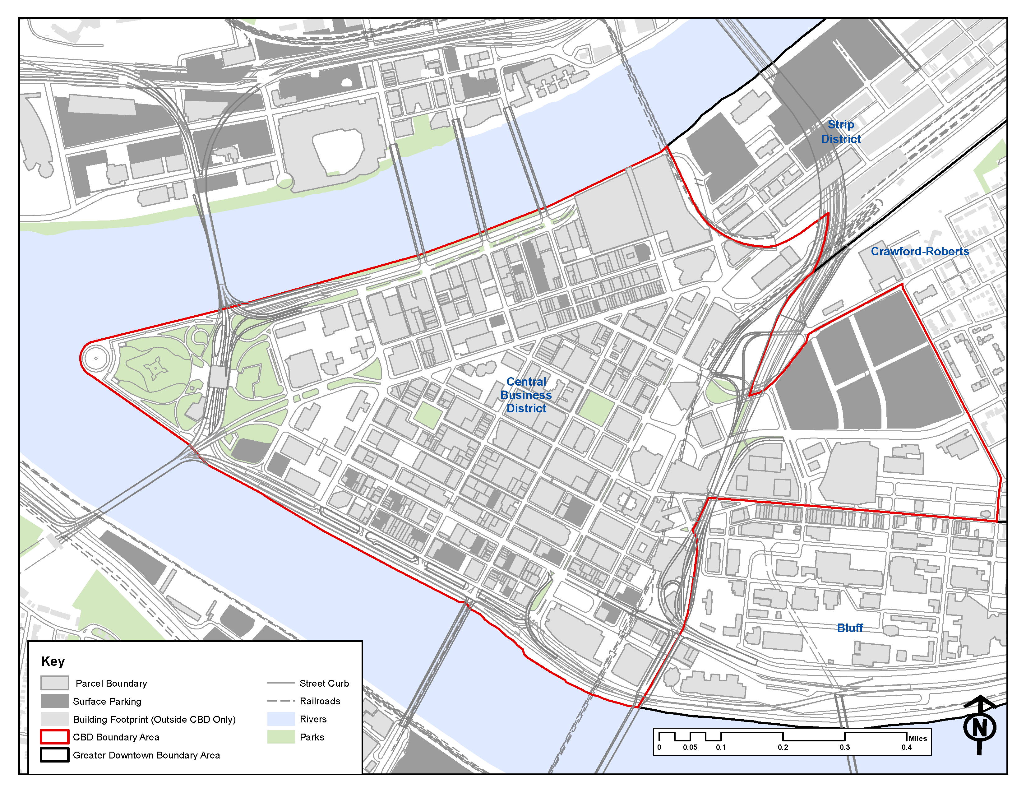 Downtown Mobility Plan Study Area