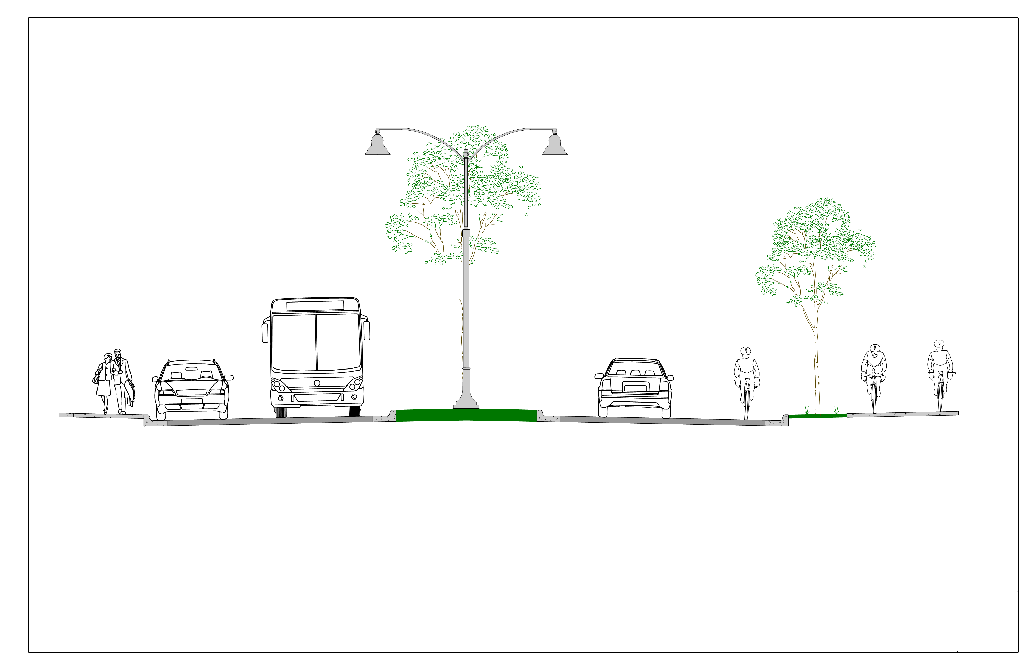 "<span style=""font-size: 14pt;"">Master Street Plans include all transportation elements within the city's street Right-of-Way. Depending on the street, these elements may include: Sidewalks, Bike Lanes, Transit Stops, Traffic Lanes, Parking, and Streetscape.</span>"