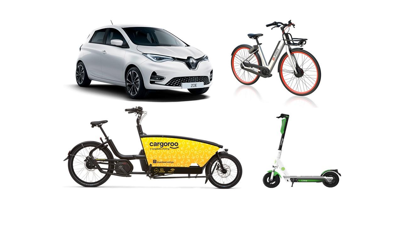 Figure 1. Modes de mobilité électrique partagée