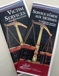 <em>Additional resources available directly from Victim Services by calling 902-368-4582: </em><br><em>* Information for Newcomers to PEI – brochure available in English, Persian, Korean, Mandarin and Spanish</em><br><em>* Directory of Services for Victims of Crime – booklet (English only)</em>