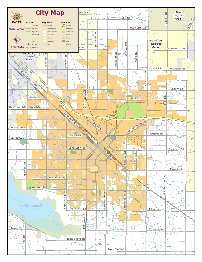 """We encourage all Nampa residents who are paying taxes to the City of Nampa to participate in the survey. <br><br>The below map is of the City of Nampa.<span style=""""color: #ffcc99;""""><strong>Onlythe areas in ORANGE are within Nampa City limits.</strong> </span>The areas in white are NOT in city limits and do not pay taxes to the City of Nampa.<br><br>If you're still not sure, please check your recent tax bill to identify if you live within city limits and are paying taxes to the City of Nampa.You can also visit cityofnampa.us/maps for a zoomable map.<br><br><em>If your household is not within Nampa city limits, but you would like to share your feedback, please email your comments to mayor@cityofnampa.us. Thank you!</em>"""