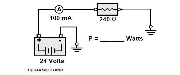 Calculating power in an electrical circuit