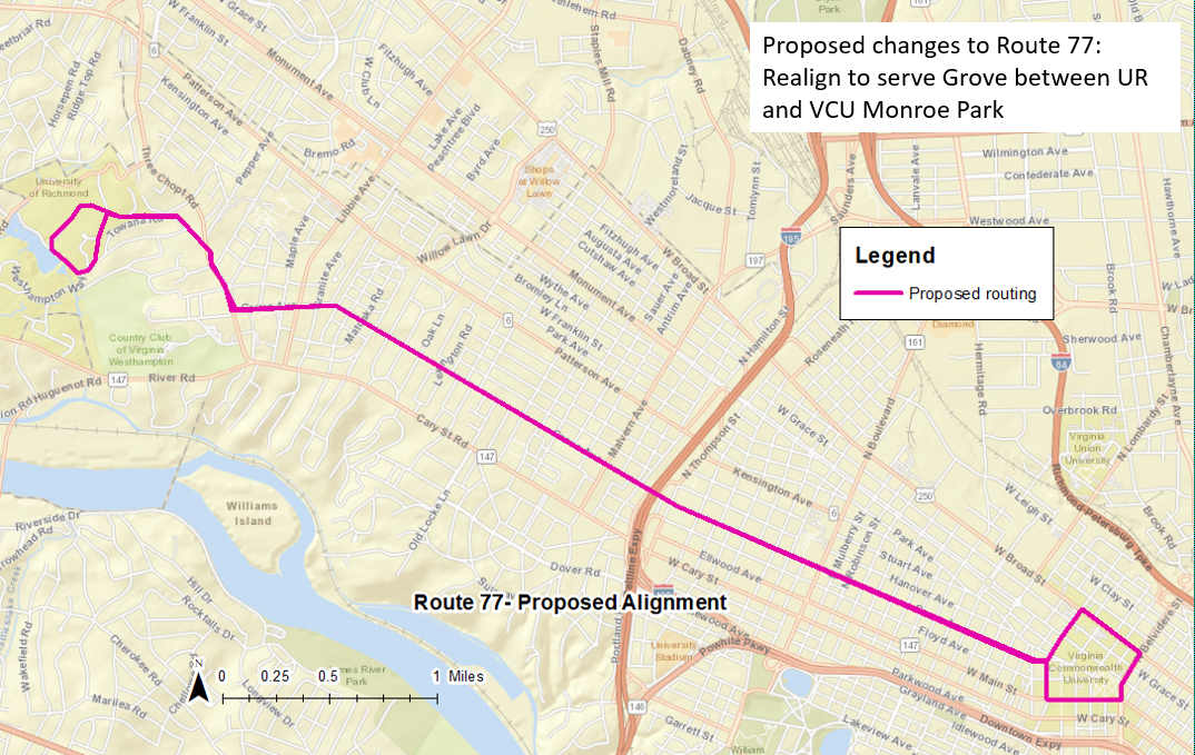 Route 77: Proposed Routing
