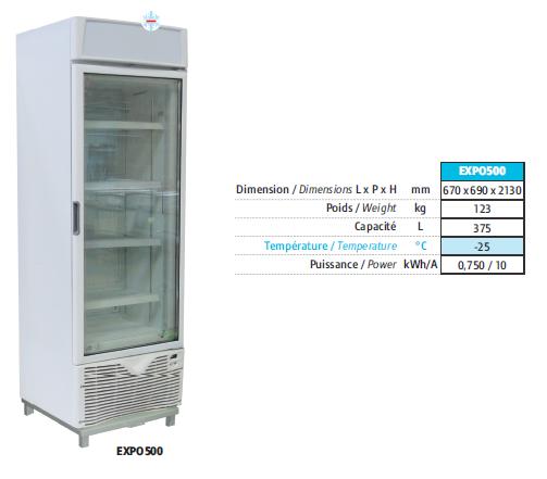 """<strong>Congélateur : armoire ventilée froid <span style=""""color: #ff0000;"""">NEGATIF</span></strong>"""