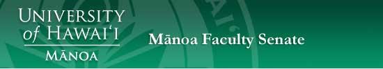 Manoa Faculty Senate
