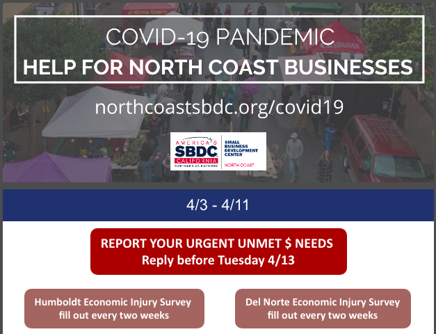 COVID Business Financial Help Updates April 3-11, 2020