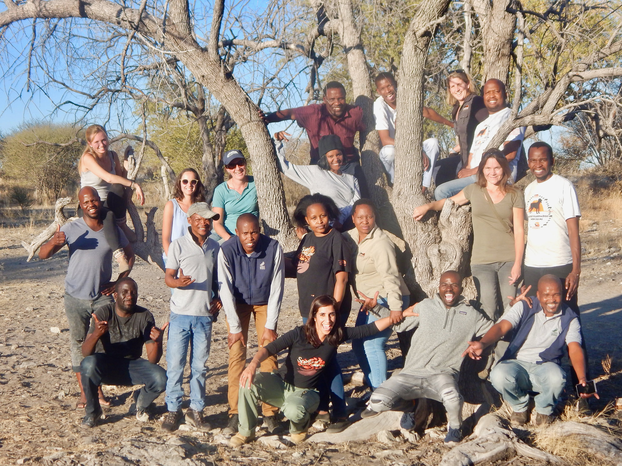 Photo: Staff of Cheetah Conservation Botswana