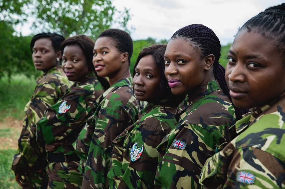 Photo: Staff of the Black Mambas Anti-Poaching Unit
