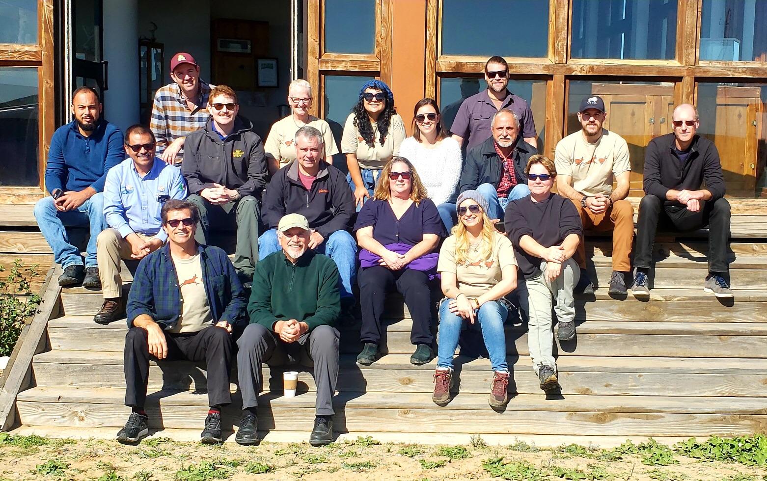 Photo: Members of BPRP andthe Peninsular Pronghorn Working Group