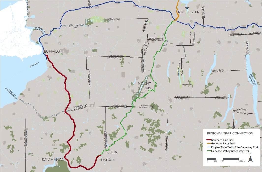 Southern Tier Trail with WNY Regional Trail Connections