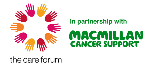 The Care Forum's logo and the in partnership with Macmillan Cancer Support logo