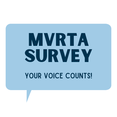 "Word bubble with survey title ""MVRTA Survey. Your"