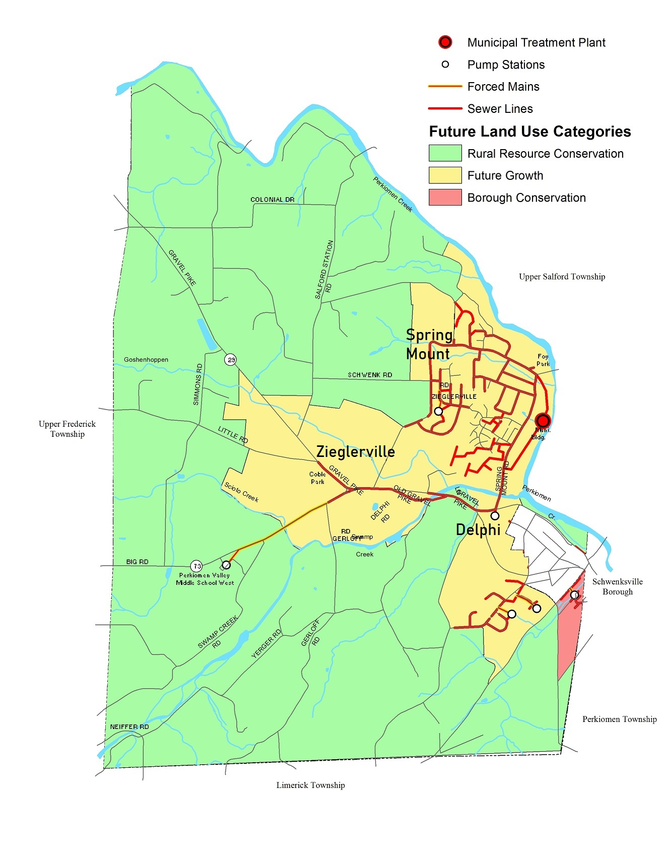 Future Land Use Map with Sewer System