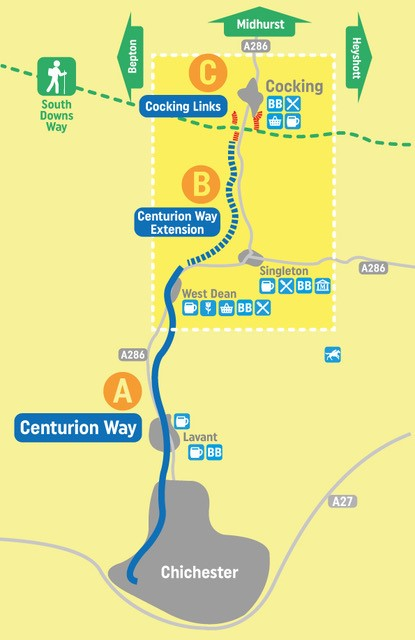 Map showing proposed extension to Centurion Way