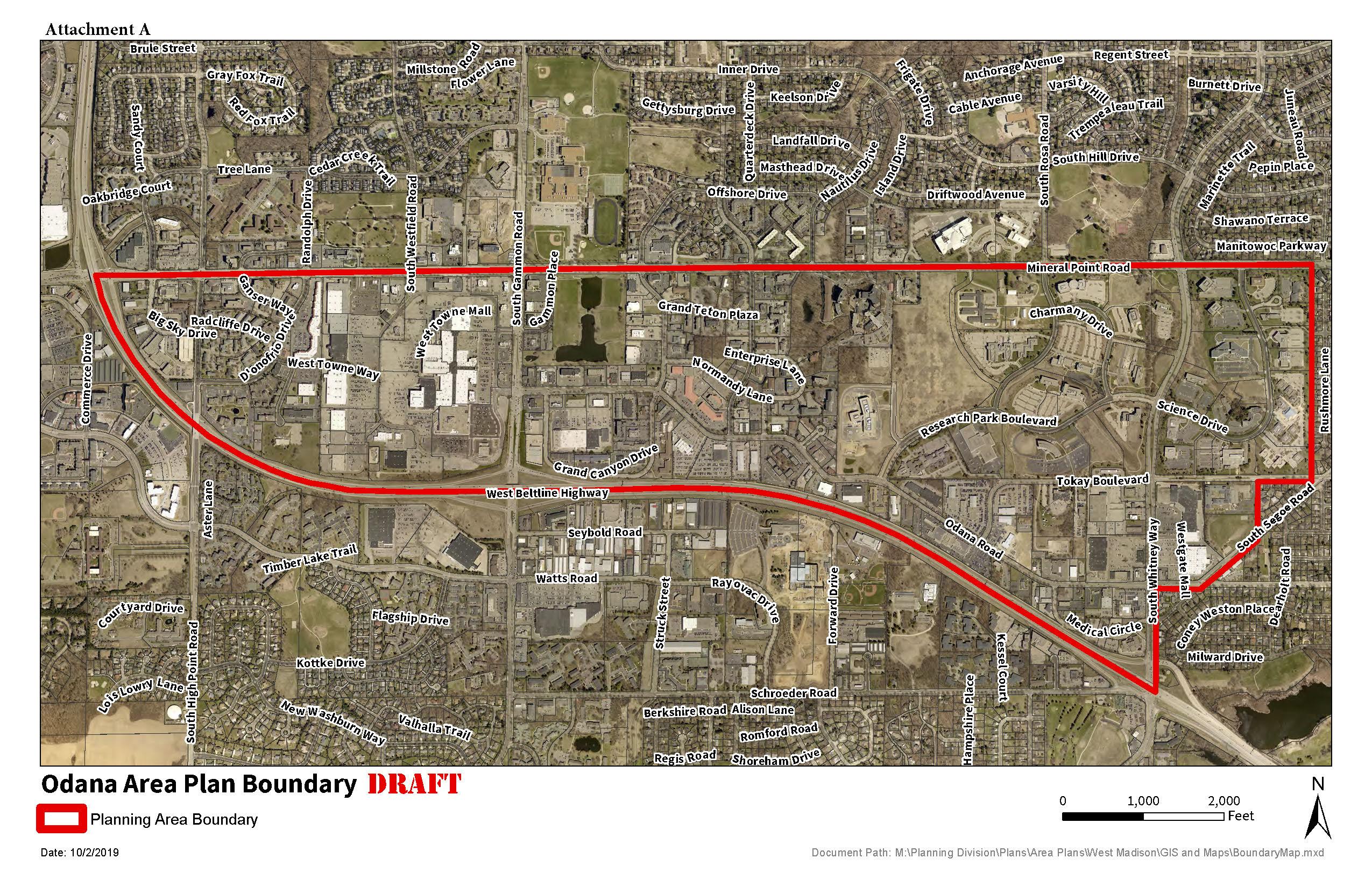 Odana Area Plan Boundary