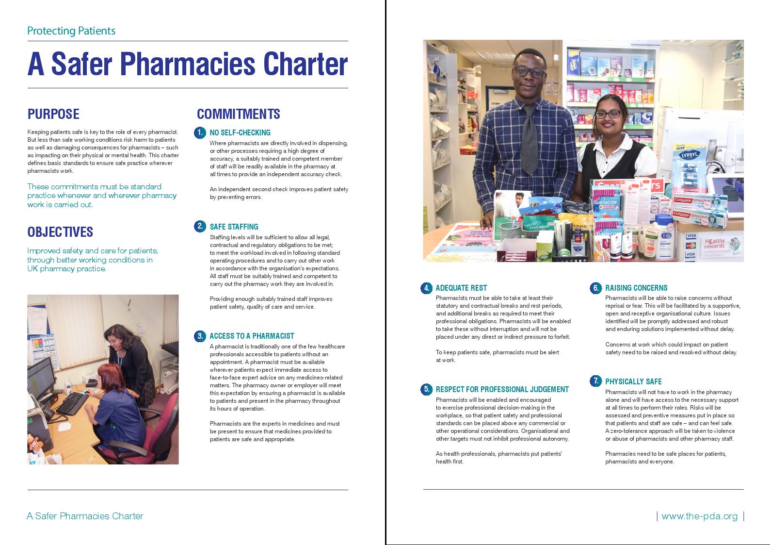 Safer Pharmacies Charter