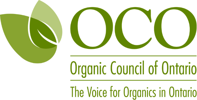 Organic Council of Ontario logo is three leaves an