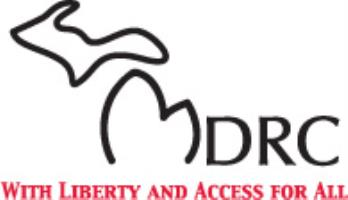 MDRC Logo - M is shaped like the state of Michigan